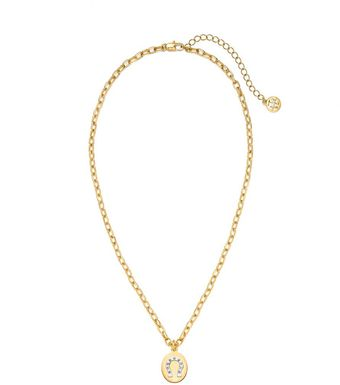 Tory Burch Sylbie Horseshoe Pendant Necklace - Lyst