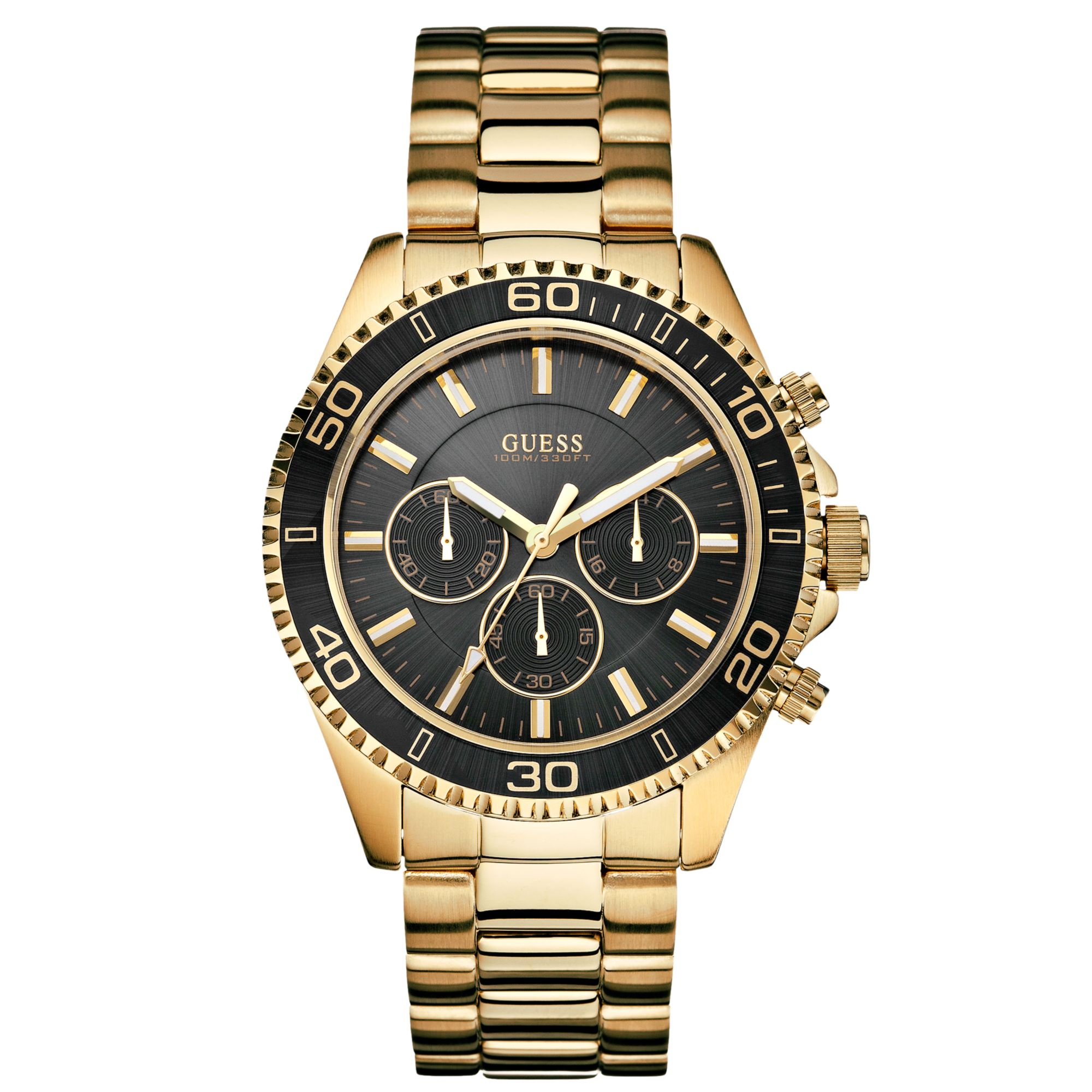 Guess stainless steel watch in gold for men no color lyst for Watches guess