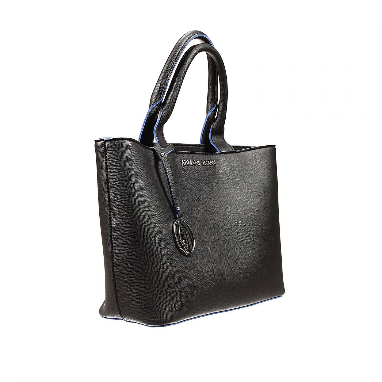 Armani jeans Handbag Bag Eco Saffiano Unlined Shopping ...