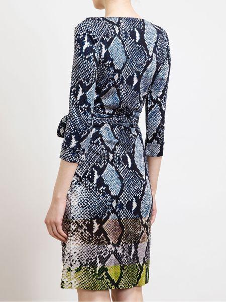 Diane Von Furstenberg New Julian Python Printed Silk