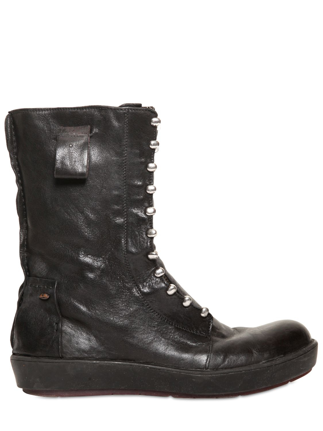 tom rebl vintage leather boots in black lyst