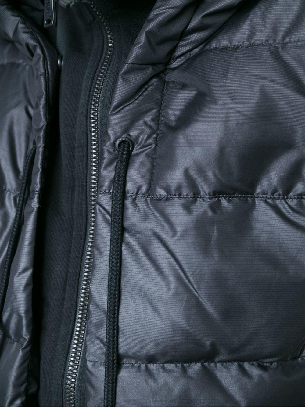 Nike Uptown 550 Padded Jacket In Black Lyst