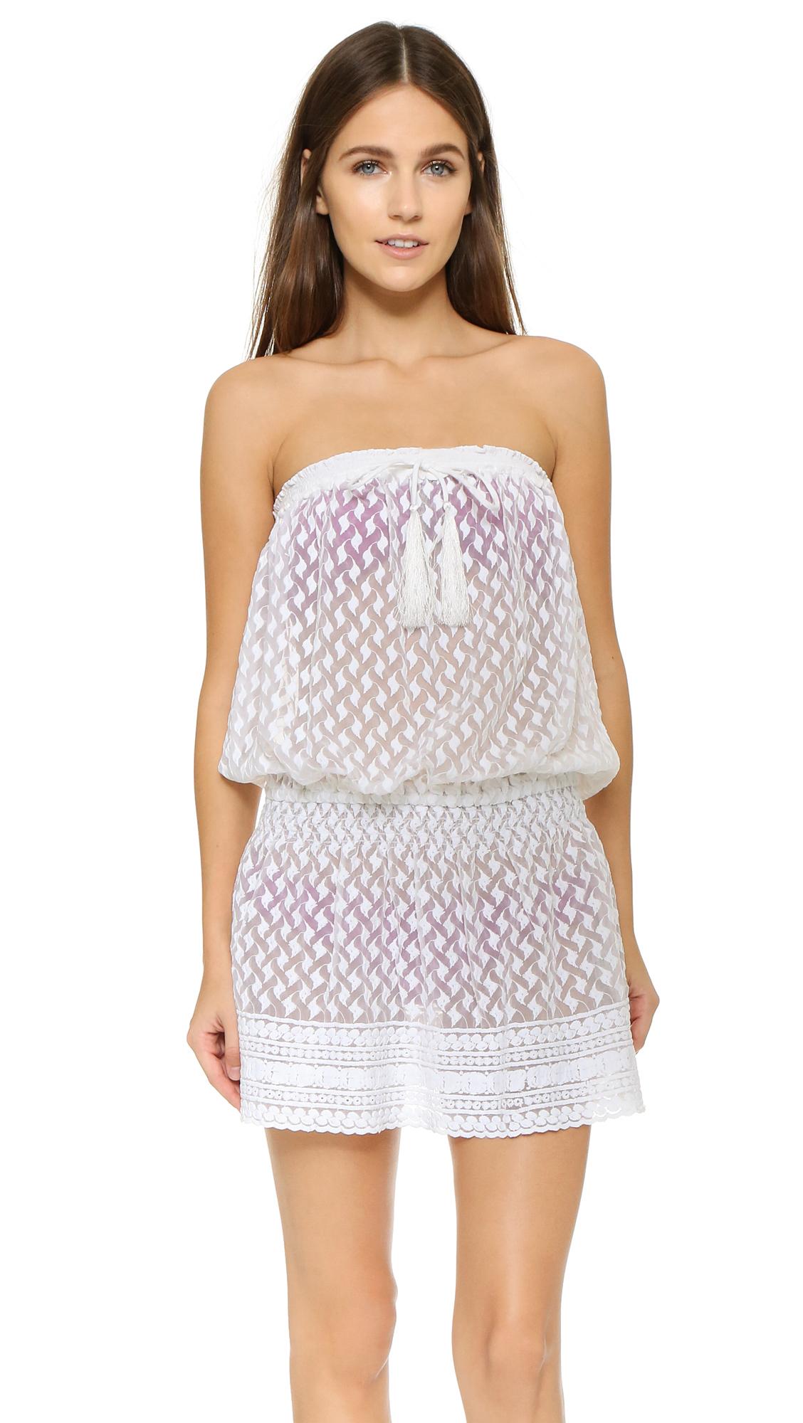 Melissa Odabash Adela Strapless Cover Up Dress In White Lyst
