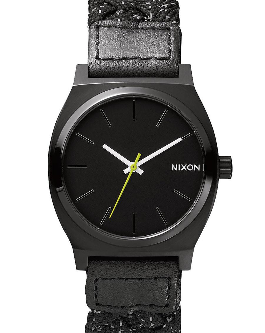 nixon montre time teller noir reflective in black for men noir lyst. Black Bedroom Furniture Sets. Home Design Ideas