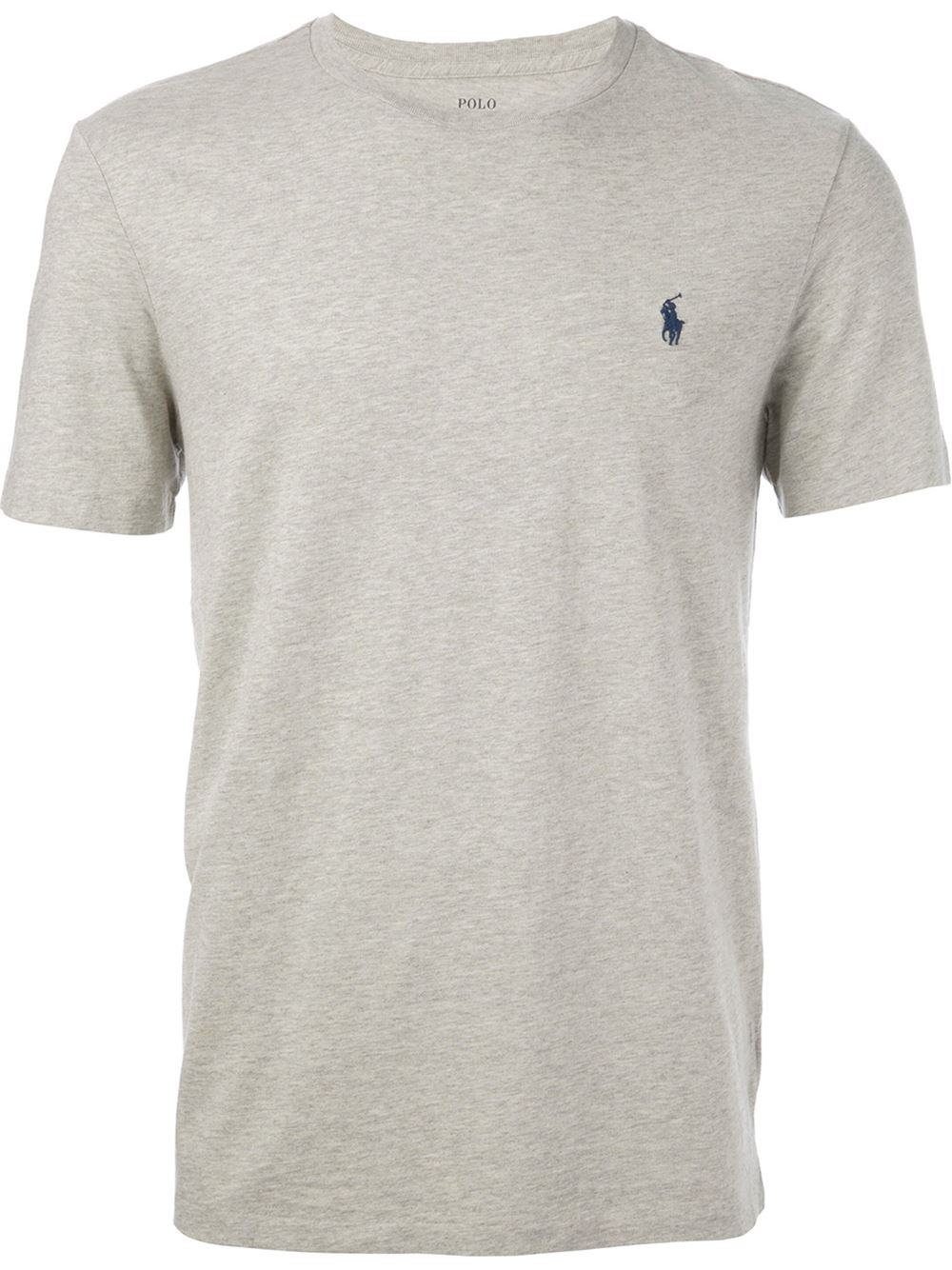polo ralph lauren logo t shirt in gray for men grey lyst. Black Bedroom Furniture Sets. Home Design Ideas