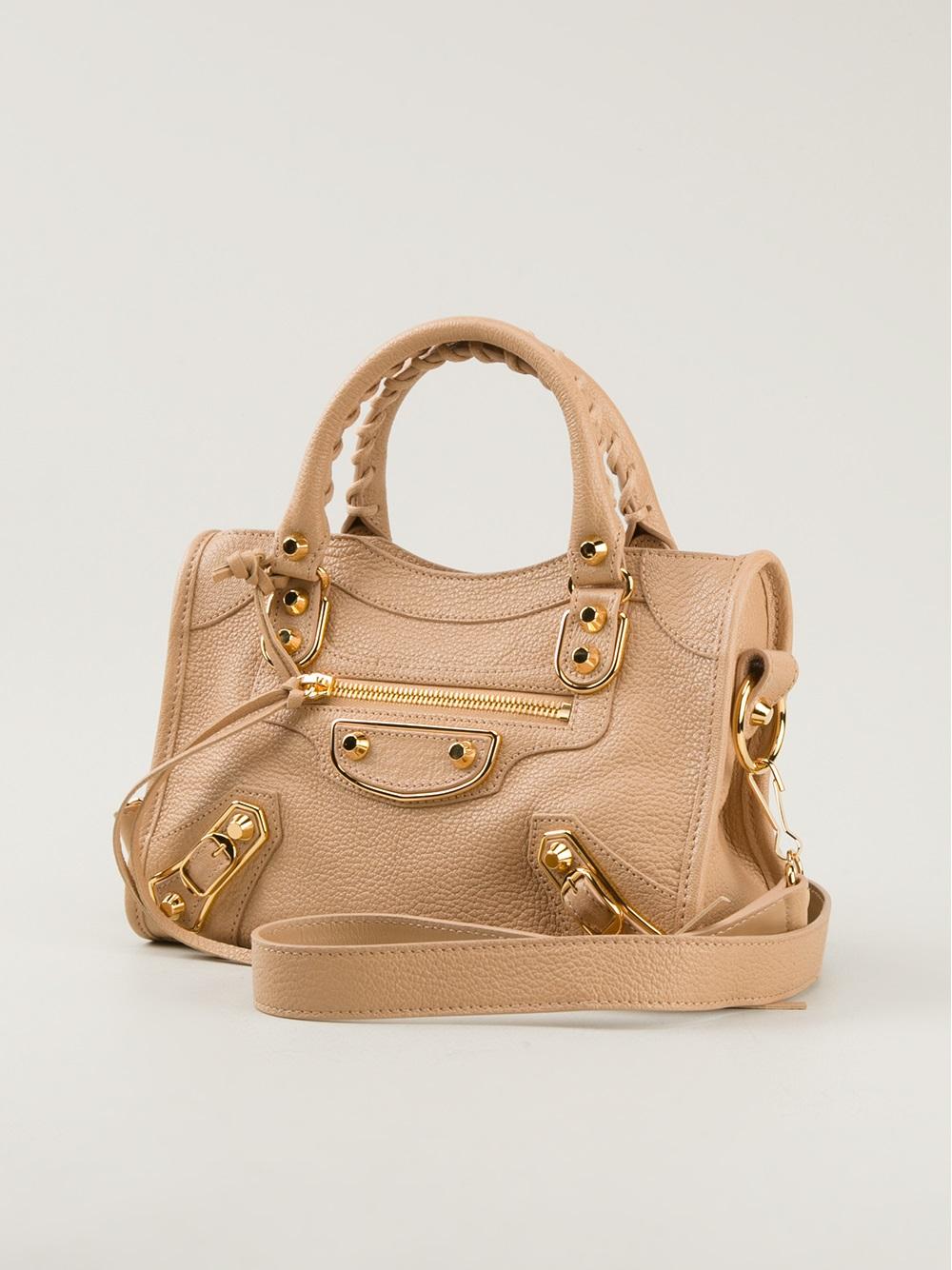 Lyst Balenciaga Classic Mini City Shoulder Bag In Natural