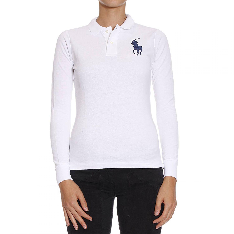 polo ralph lauren t shirt in white lyst. Black Bedroom Furniture Sets. Home Design Ideas