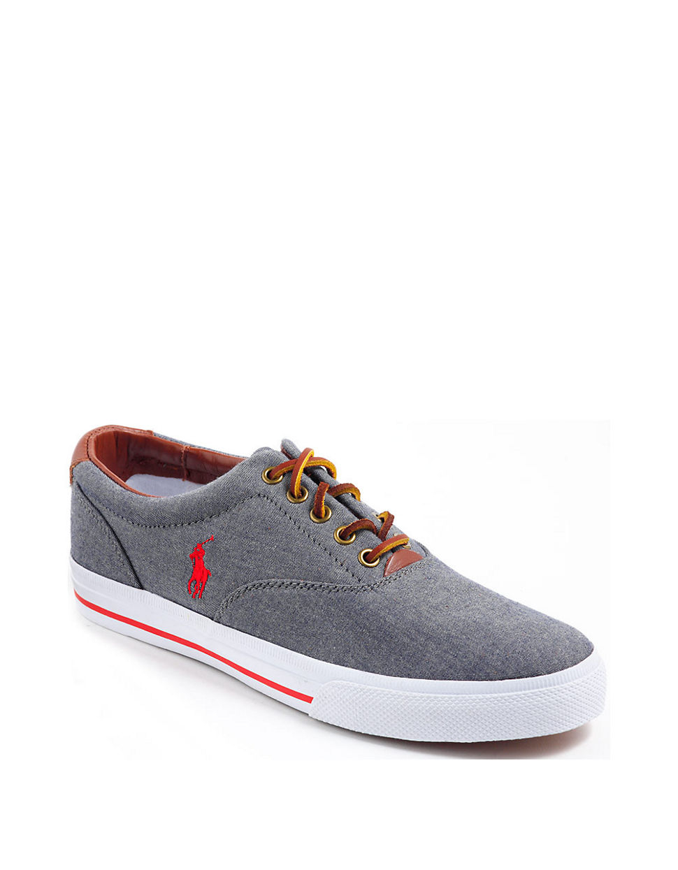 polo ralph vaughn sneakers in gray for lyst