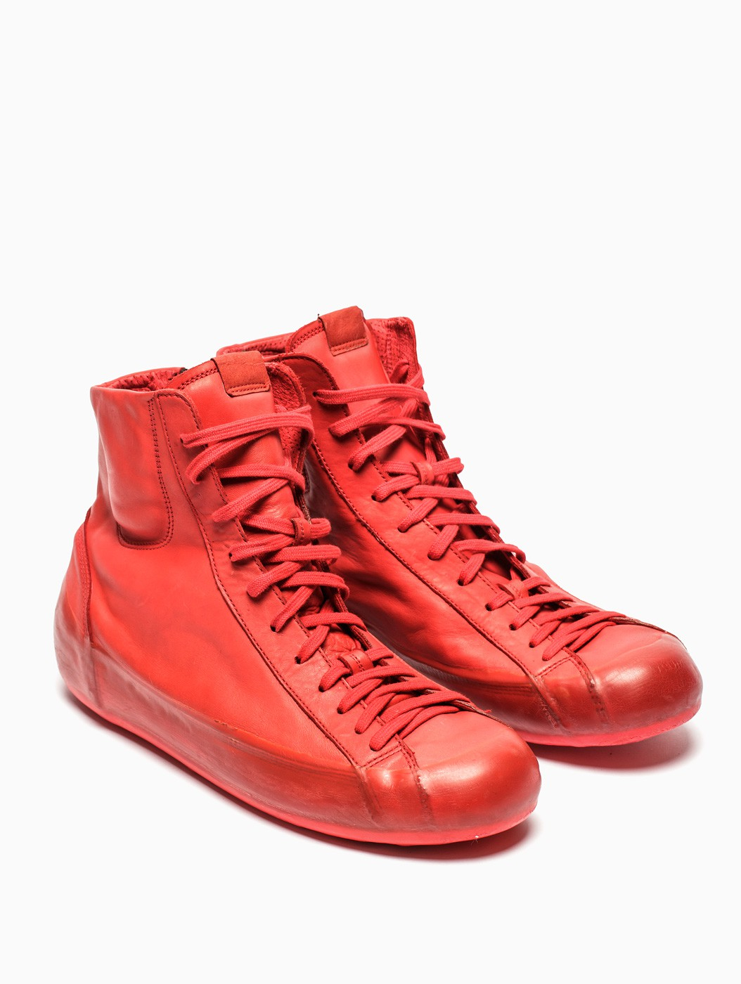 Lyst Oxs Rubber Soul Leather Sneakers In Red For Men