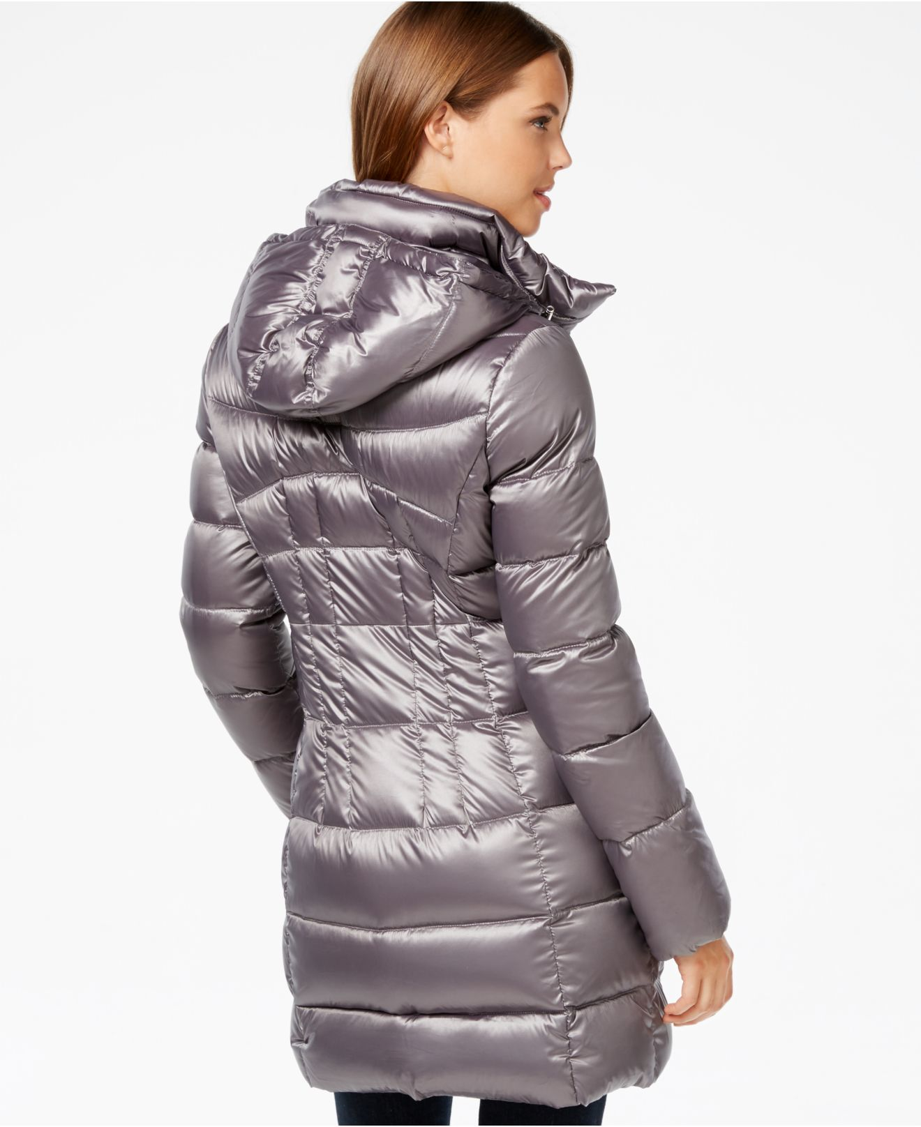Lyst Calvin Klein Hooded Quilted Packable Down Puffer