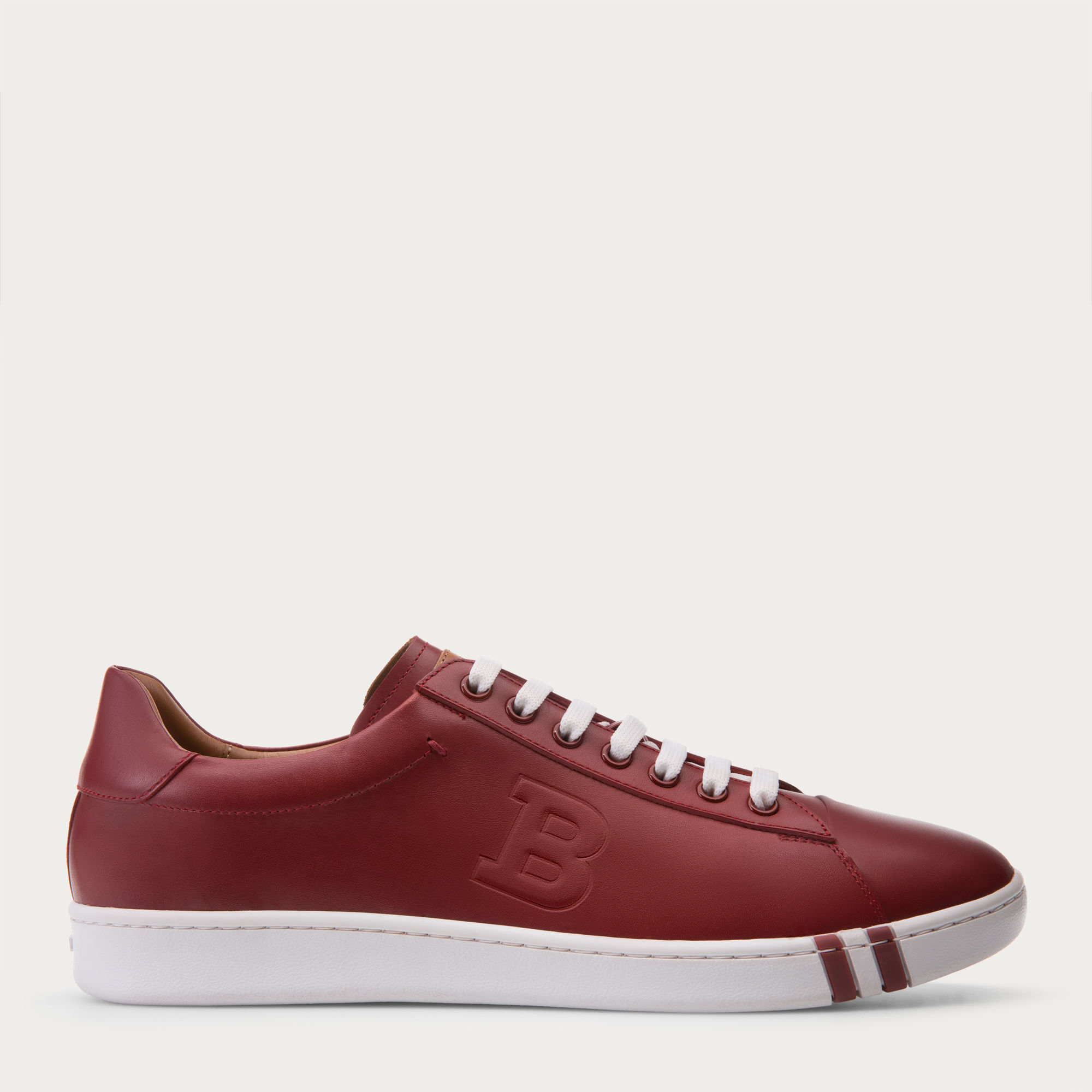d839960cfa38 Lyst - Bally Asher Men s Leather Low-top Trainer In Red in Pink
