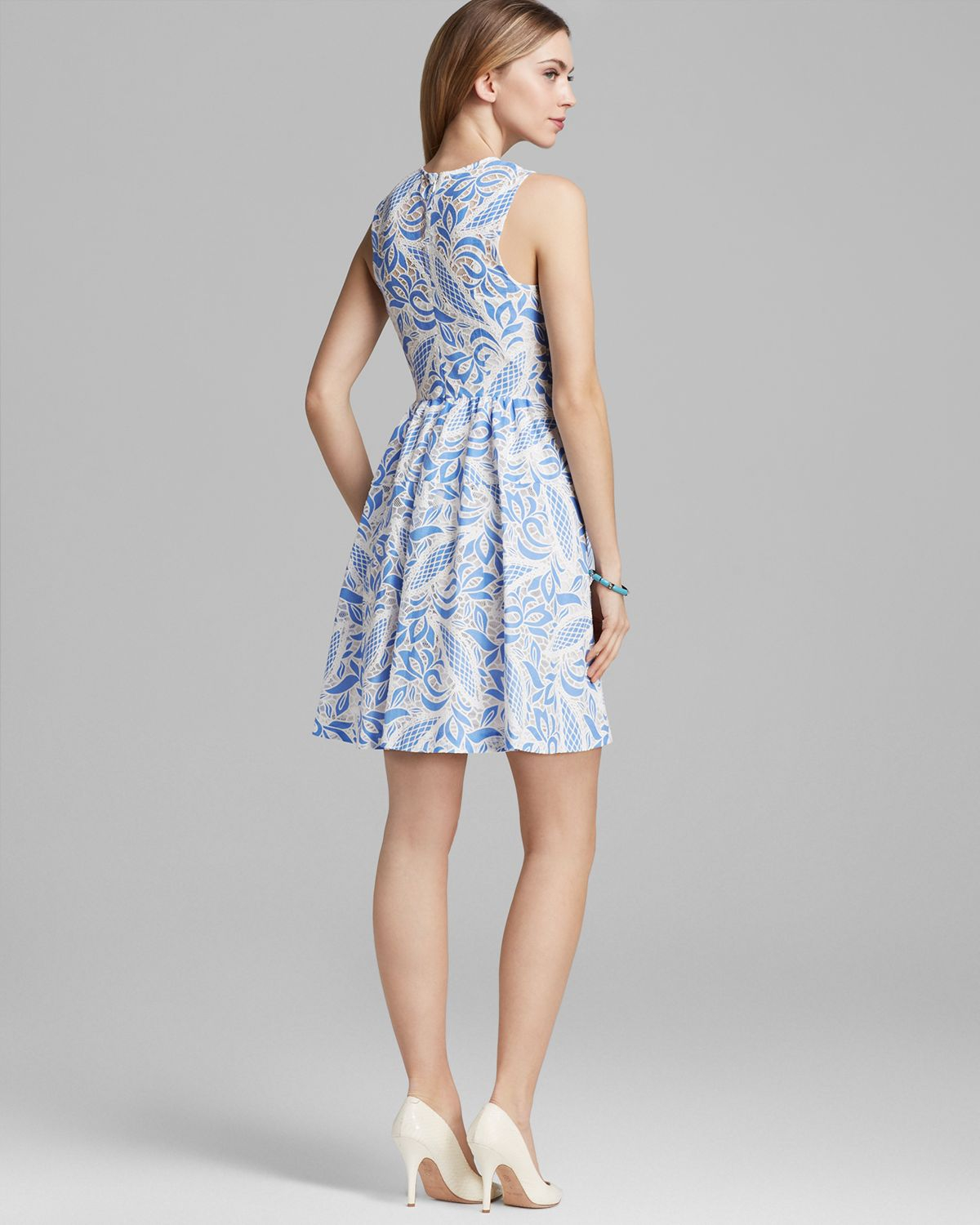 Tracy Reese Dress Alana Paisley Lace Fit And Flare In