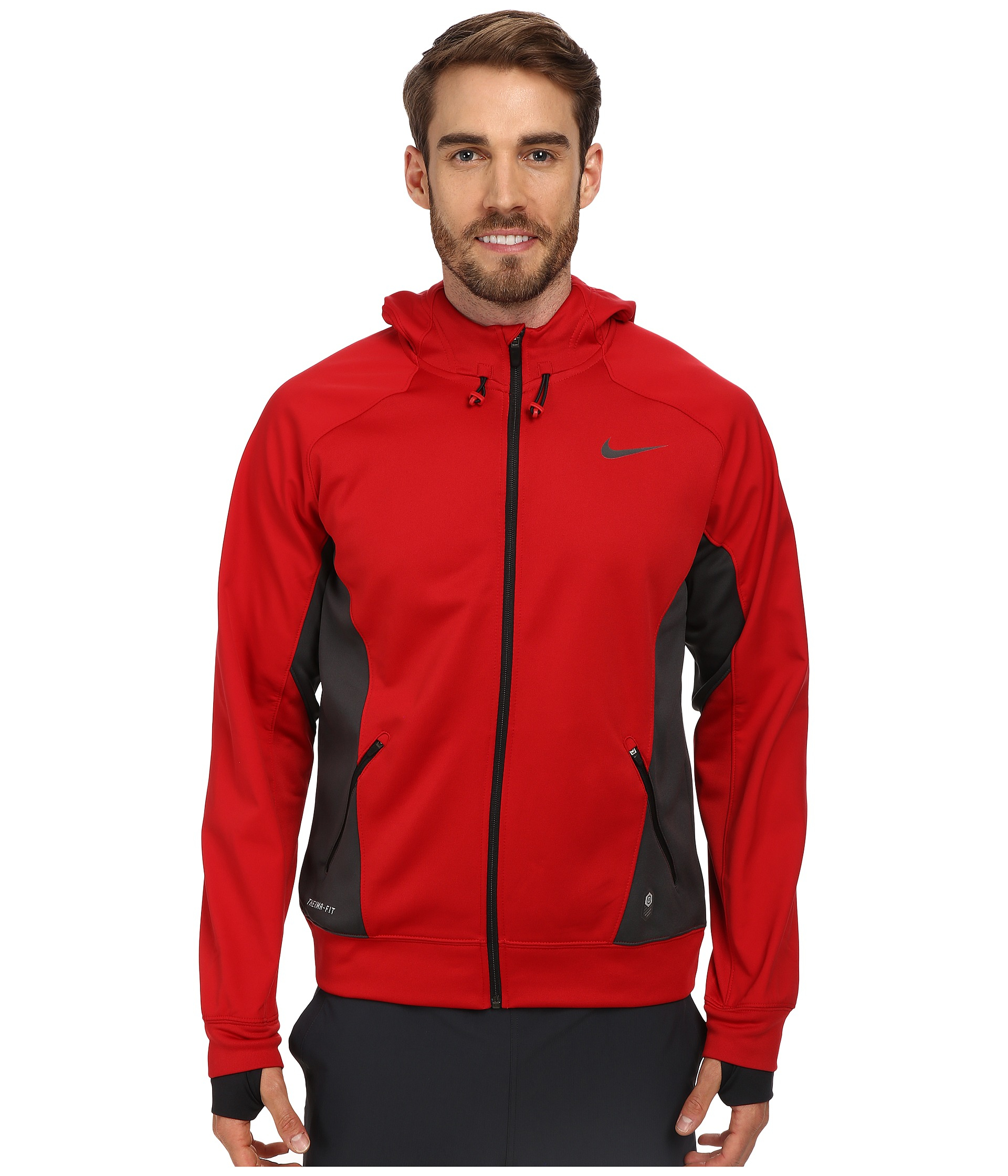 Lyst - Nike Hero Outdoor Tech Full-Zip Hoodie in Red for Men fd5a4a4ce