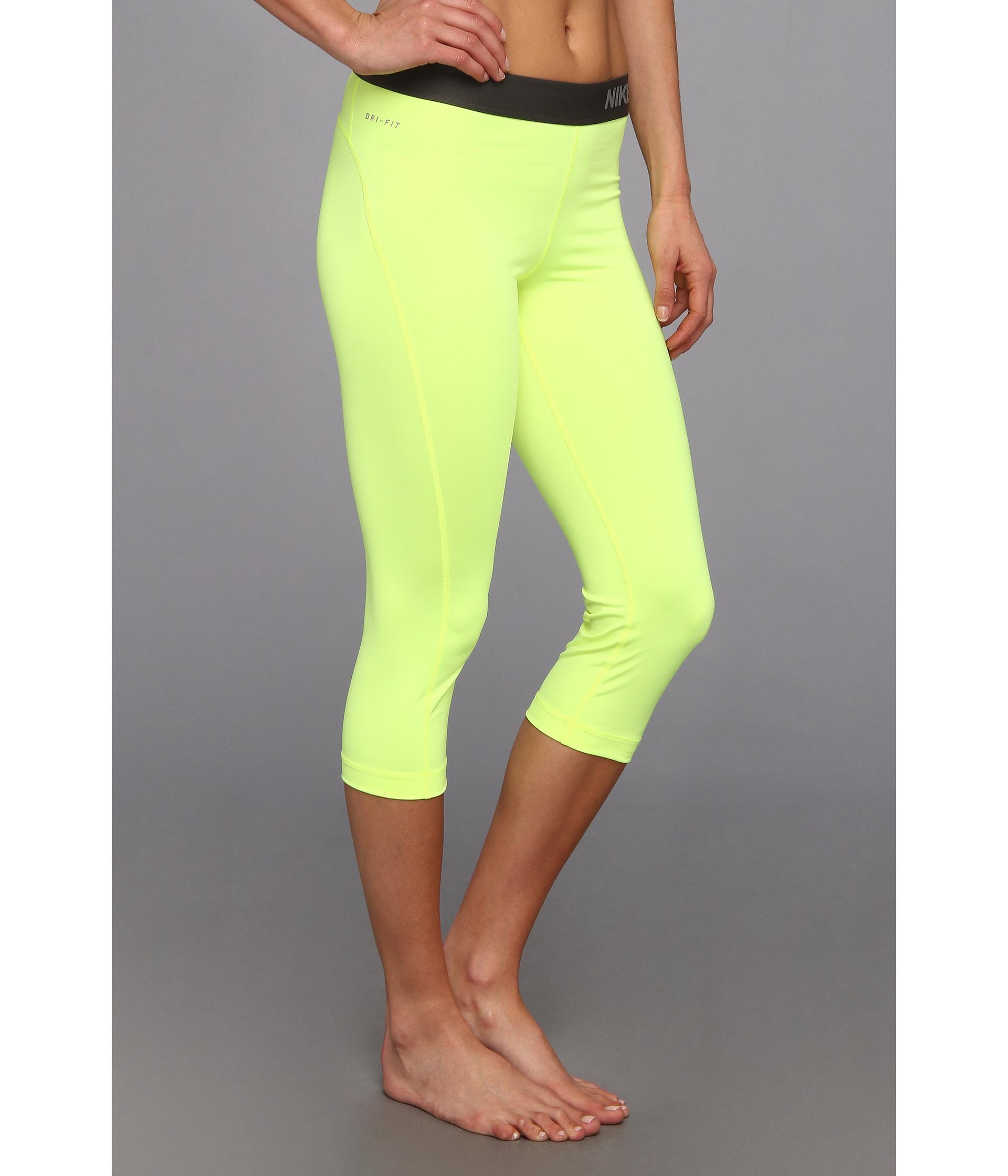 2a1eb47efd1b Lyst - Nike Pro Capri in Yellow