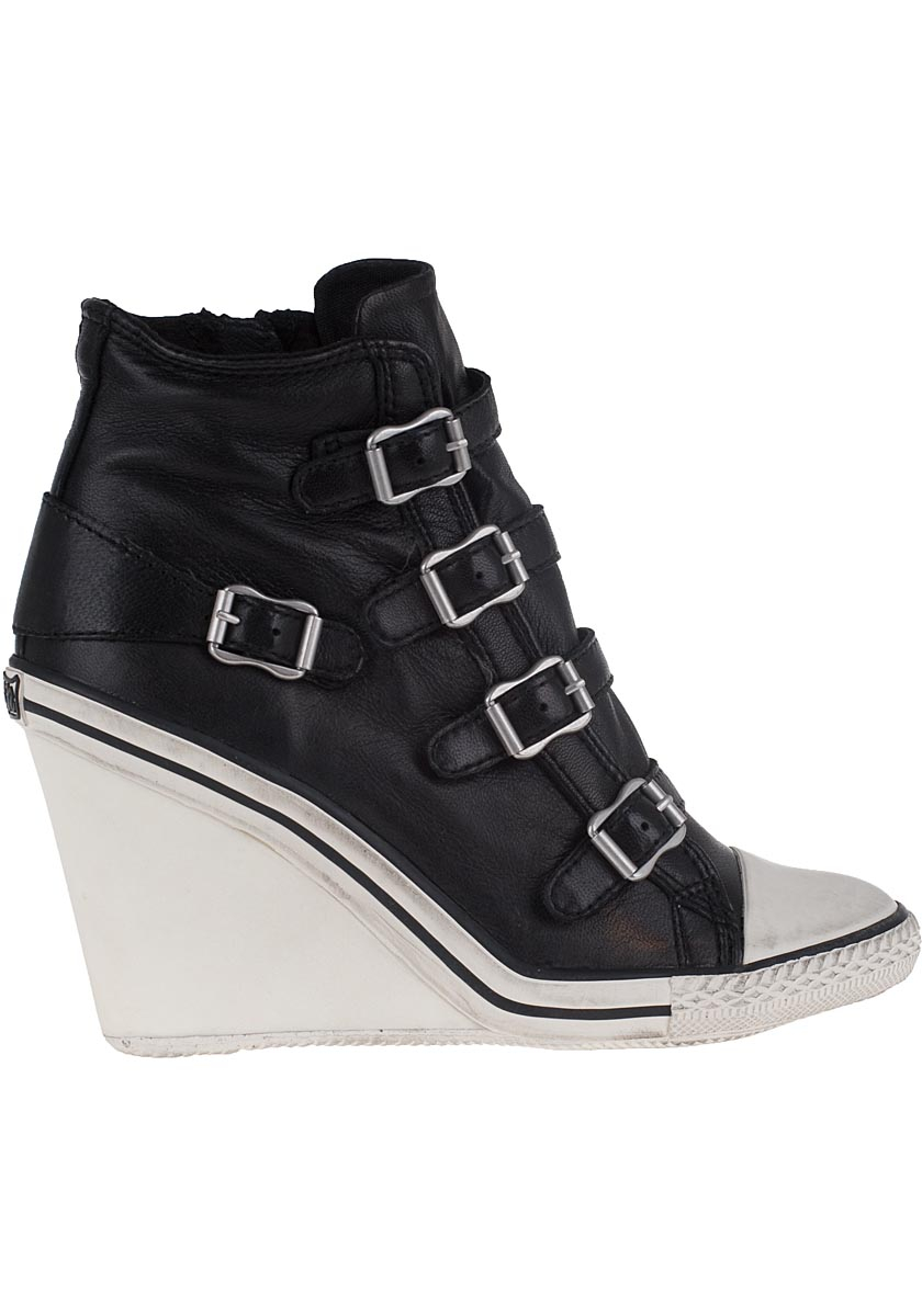 Women Fashion Leather Sneakers Casual Lace up White Black Flat Shoes High Top Hidden Heel Wedges Platform Shoes. from $ 24 99 Prime. out of 5 stars bebe. Womens Colby Leather Wedge Fashion Sneakers. from $ 30 99 Prime. out of 5 stars 2. UBFEN.