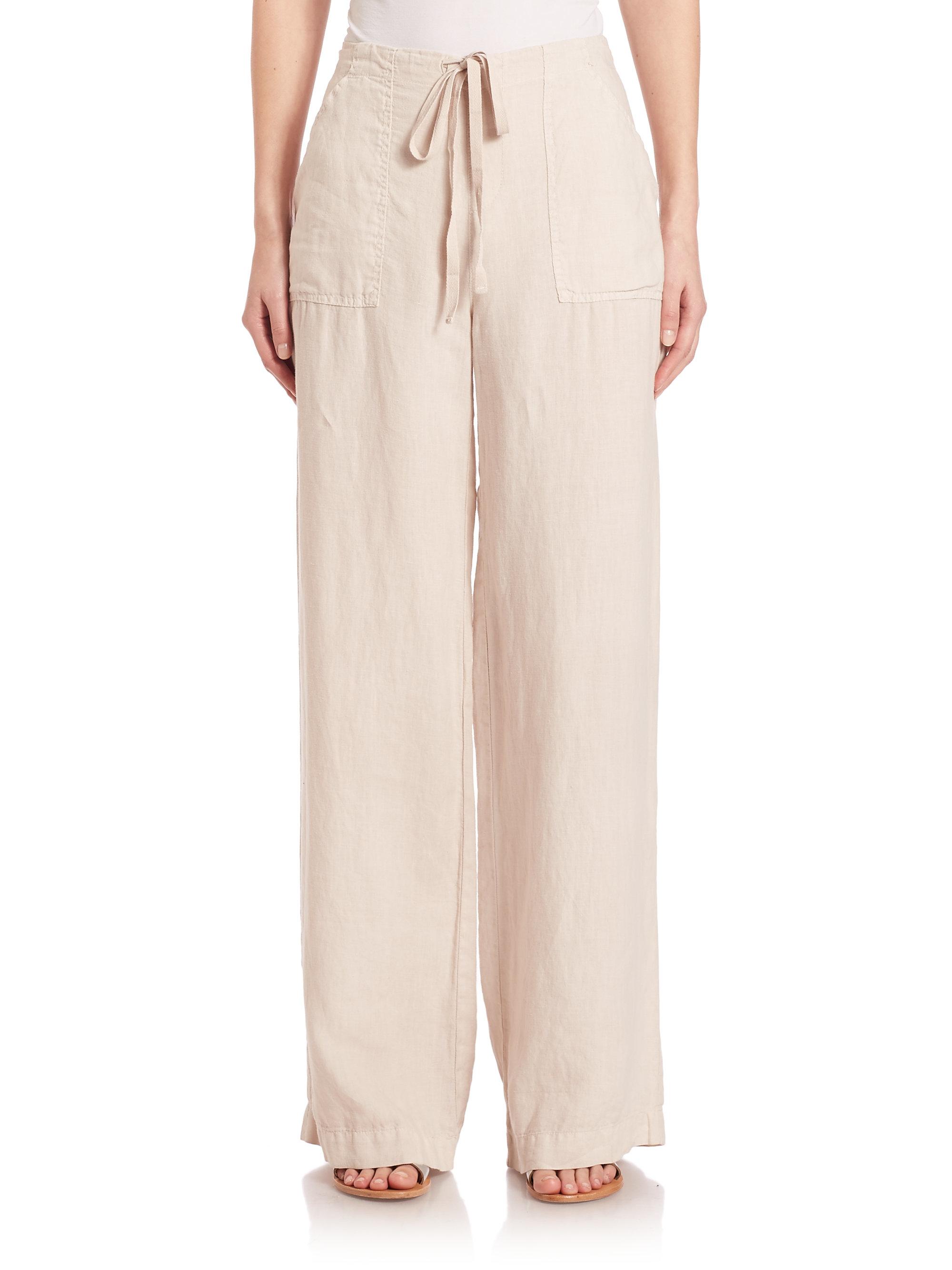 Flax Linen Drawstring Pants Pant So