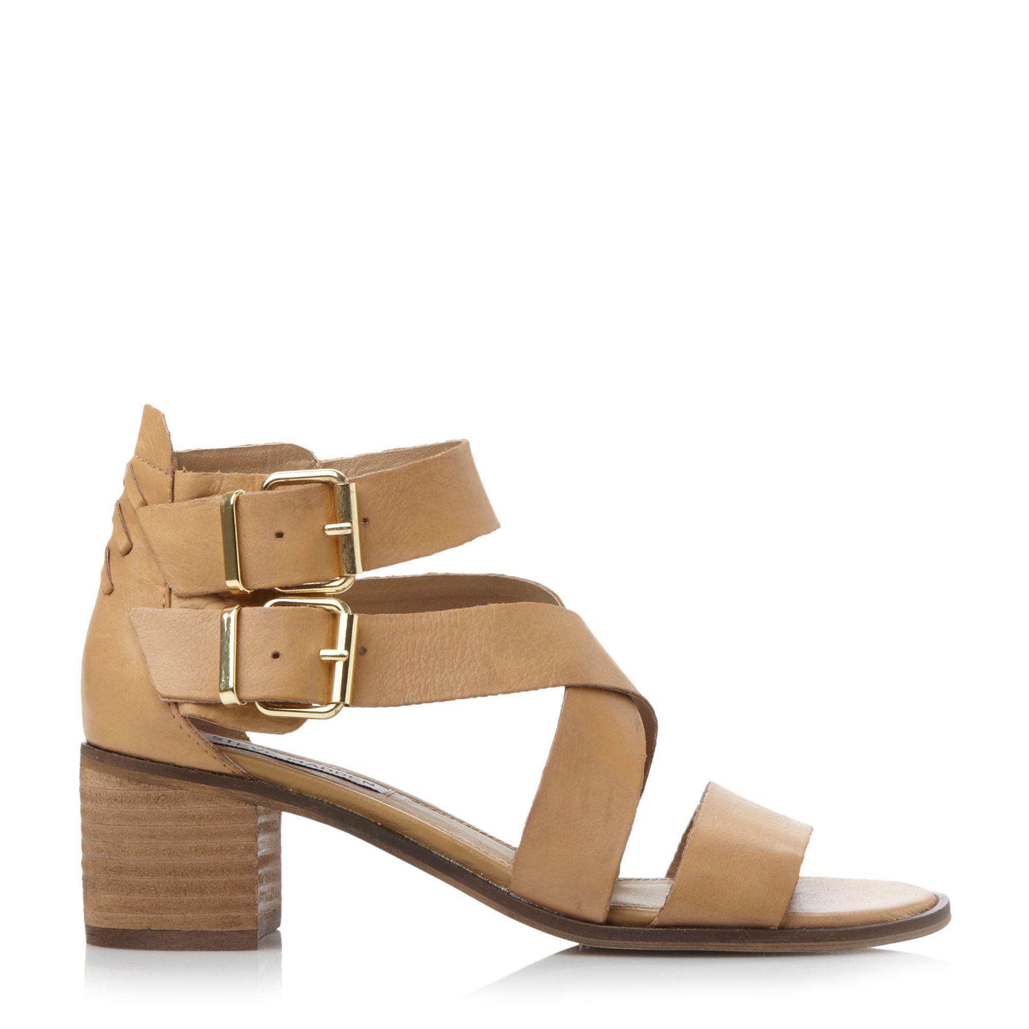 Steve madden Rosana Sm Strappy Block Heel Sandal in Natural  Lyst