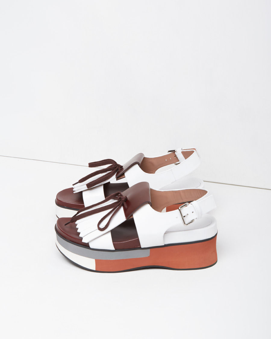 Marni Kiltie-Accented Platform Sandals visit for sale free shipping really rDPq4