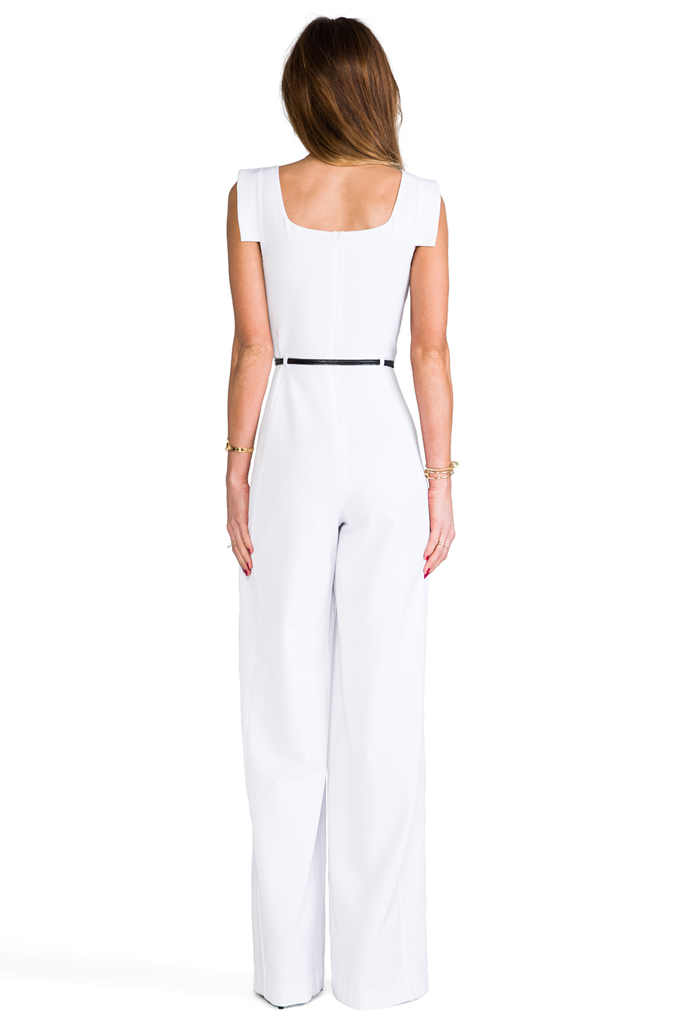 Lyst Black Halo Jackie Jumpsuit In White In White