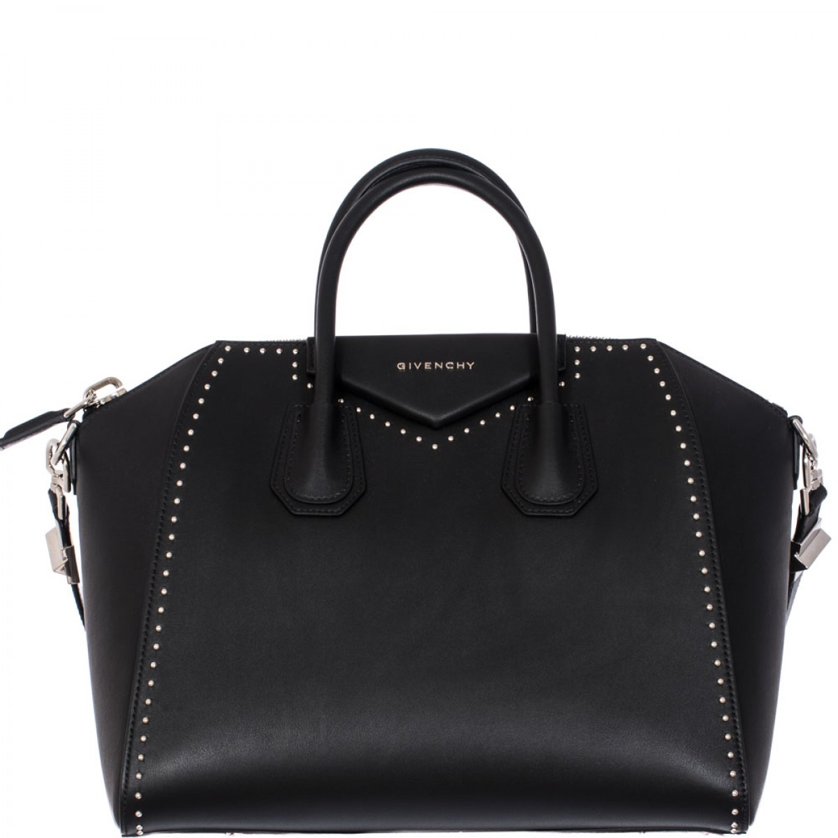 Givenchy Antigona Medium Studded Tote In Black Lyst