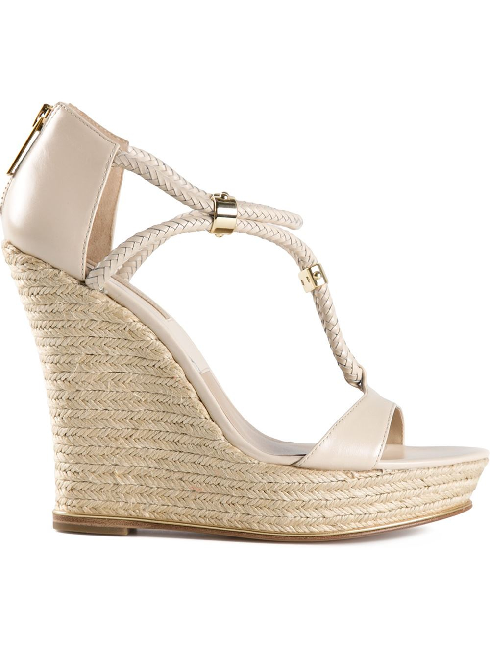 kors by michael kors 39 sherie 39 wedge espadrilles in beige nude neutrals lyst. Black Bedroom Furniture Sets. Home Design Ideas
