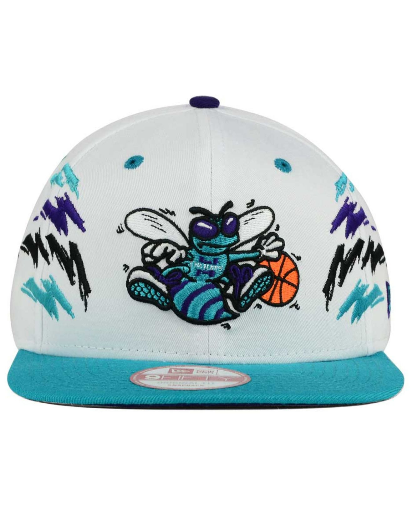 sports shoes fc747 1d159 ... uk lyst ktz charlotte hornets old cool 9fifty snapback cap in white  d6f8b 149ca