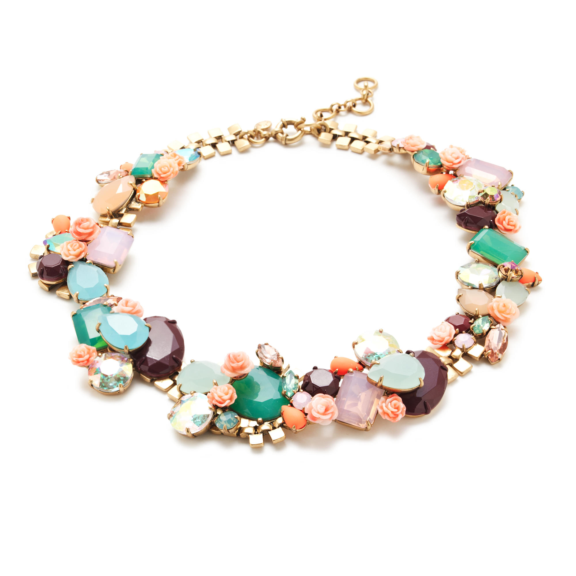 Wildflower statement necklace lyst for J crew jewelry 2015