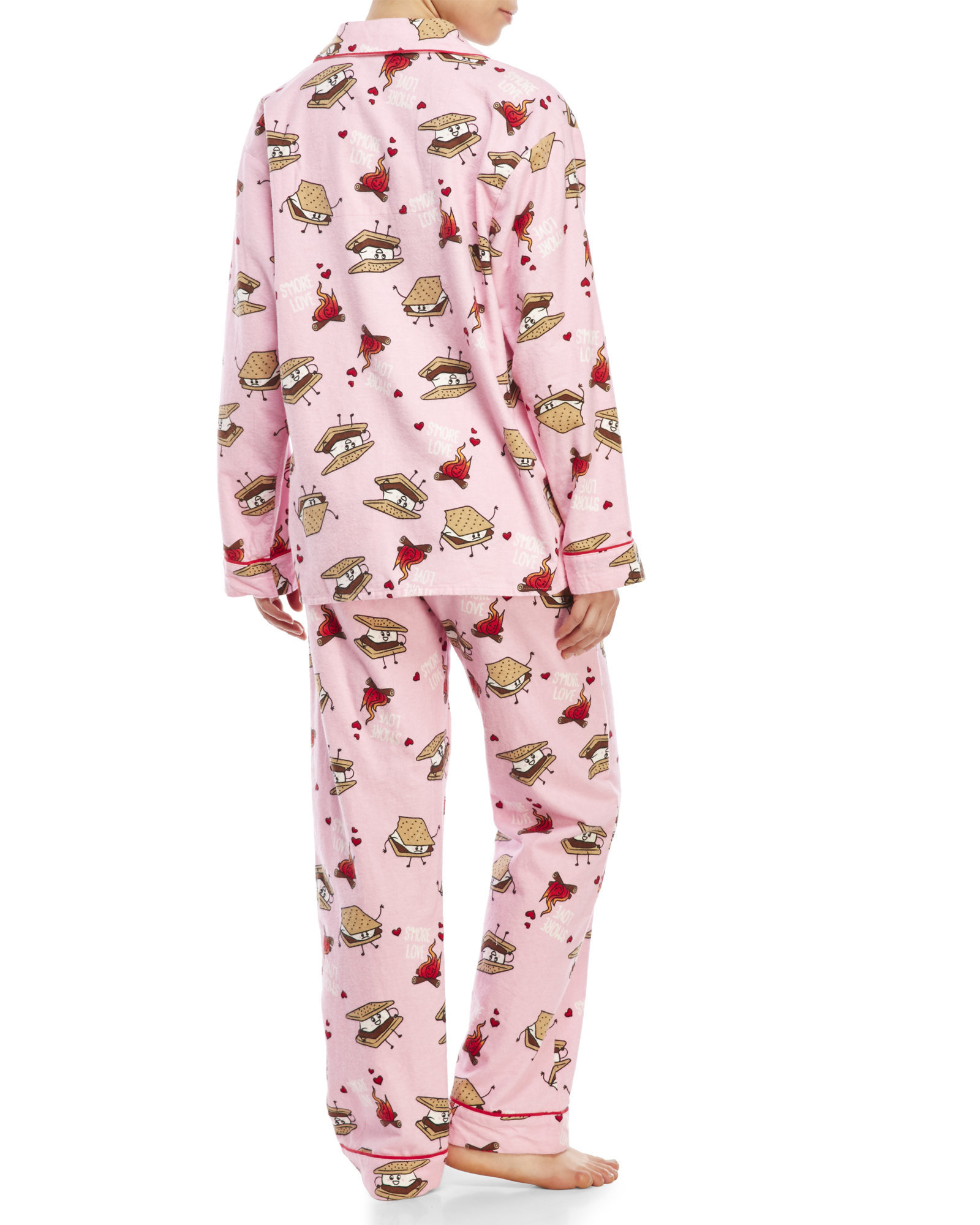 Lyst Pj Salvage S More Love Flannel Pajama Set In Pink