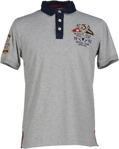 Beverly Hills Polo Club | Gray Polo Shirt for Men | Lyst