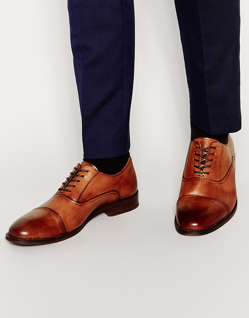 Lyst Aldo Selvatelle Leather Oxford Shoes In Brown For Men