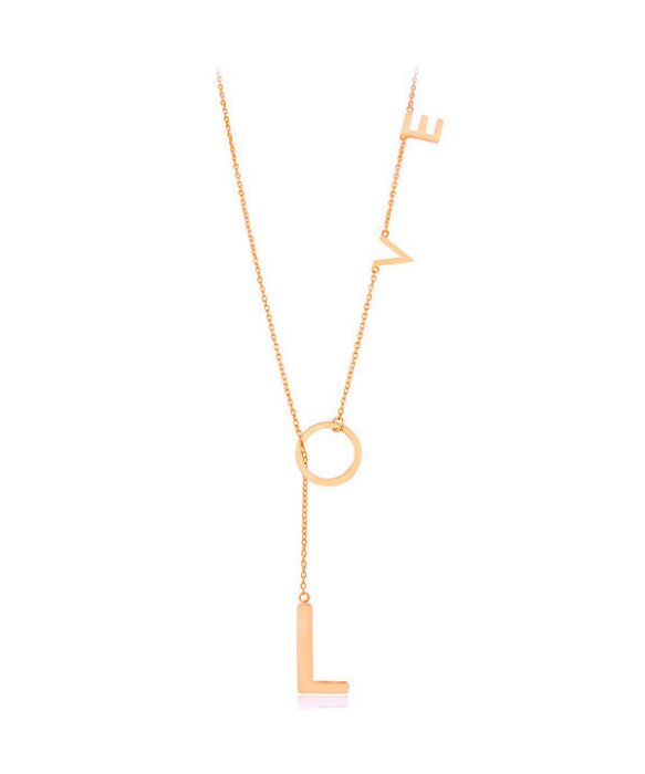 adornia rose gold vermeil love lariat necklace in pink lyst. Black Bedroom Furniture Sets. Home Design Ideas