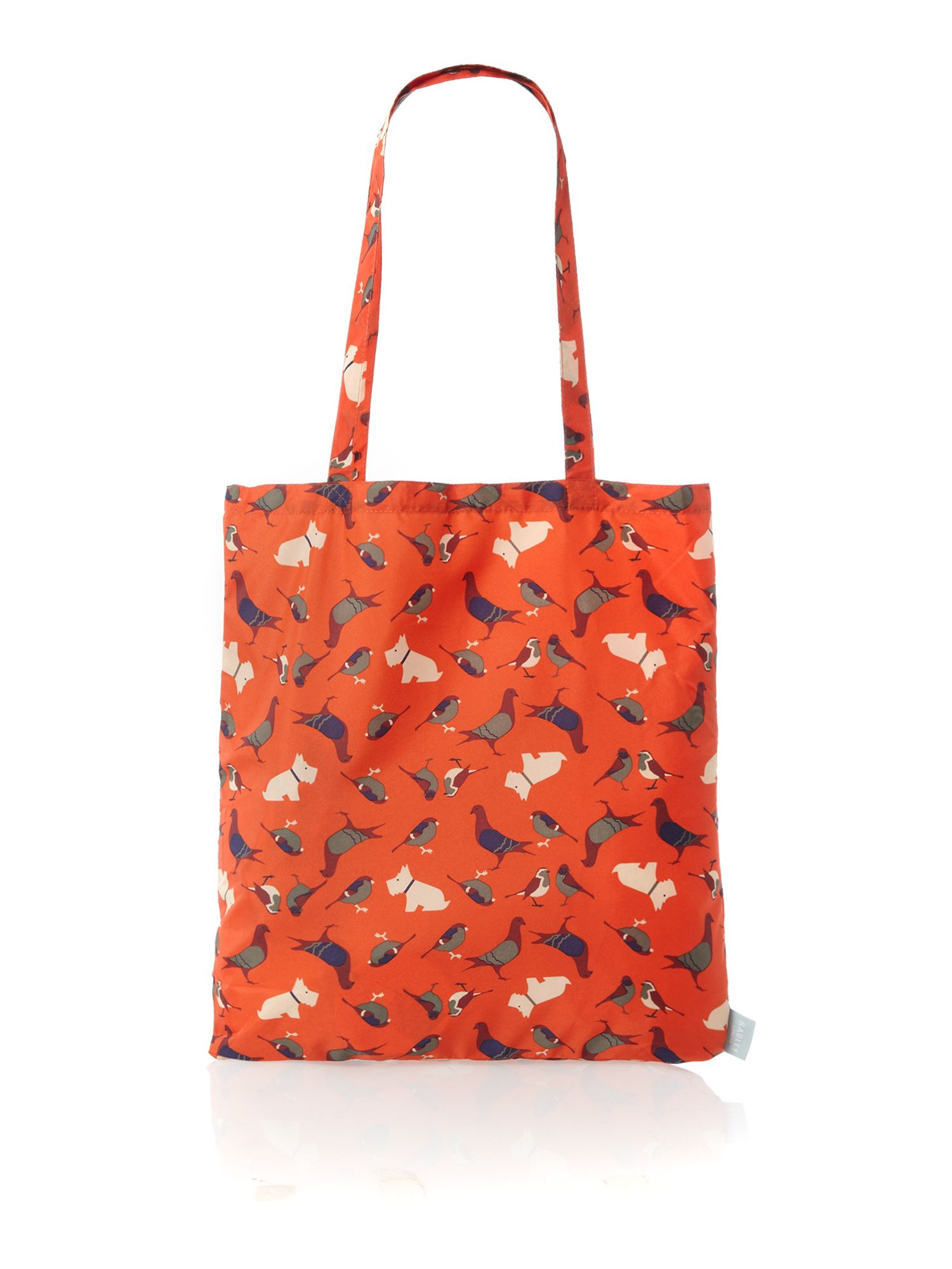 radley a little bird told me orange foldaway tote in orange lyst gallery