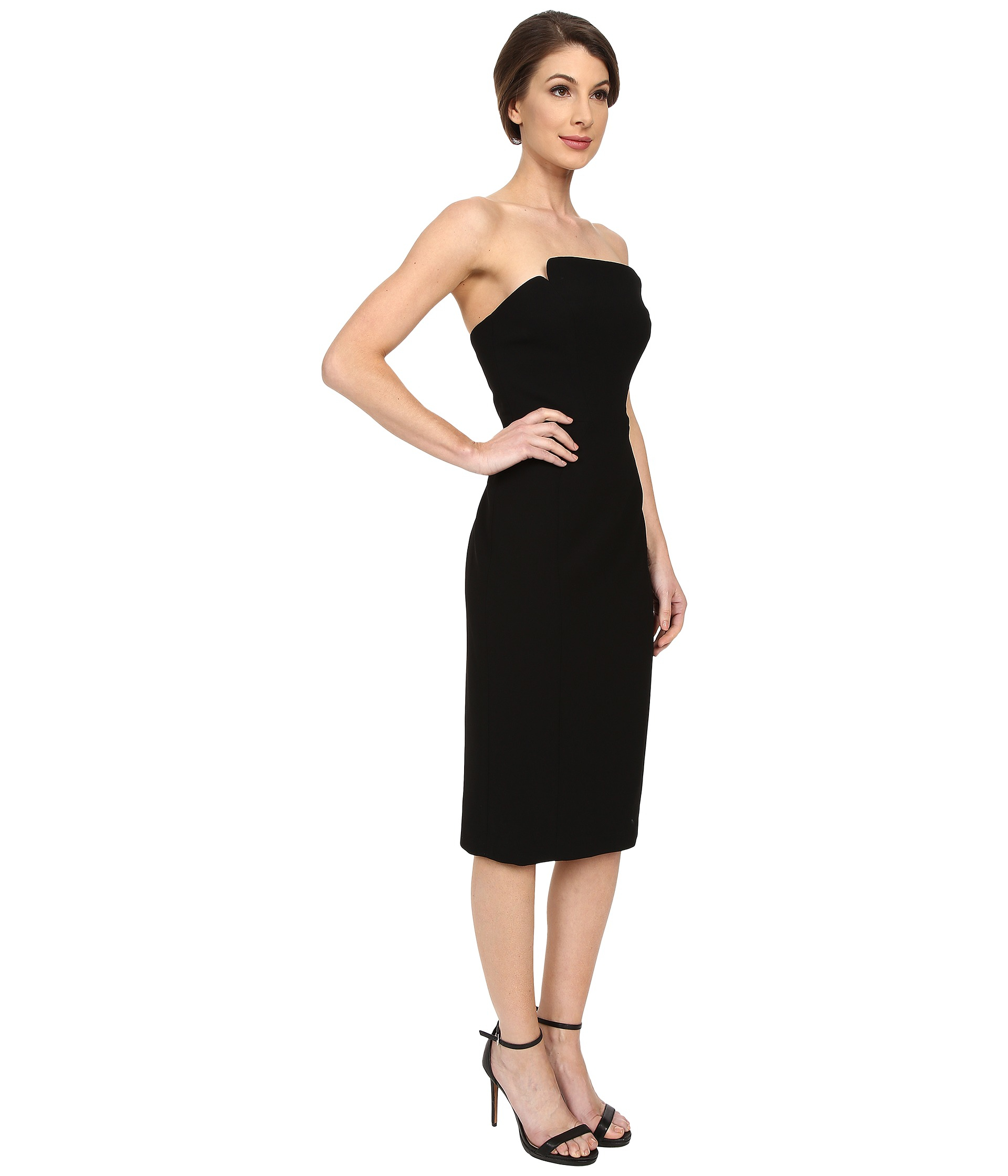 black strapless dress knee length � fashion dresses