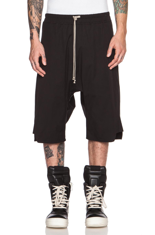 Rick owens Men'S Basket Swinger Cotton-Blend Shorts in Black | Lyst