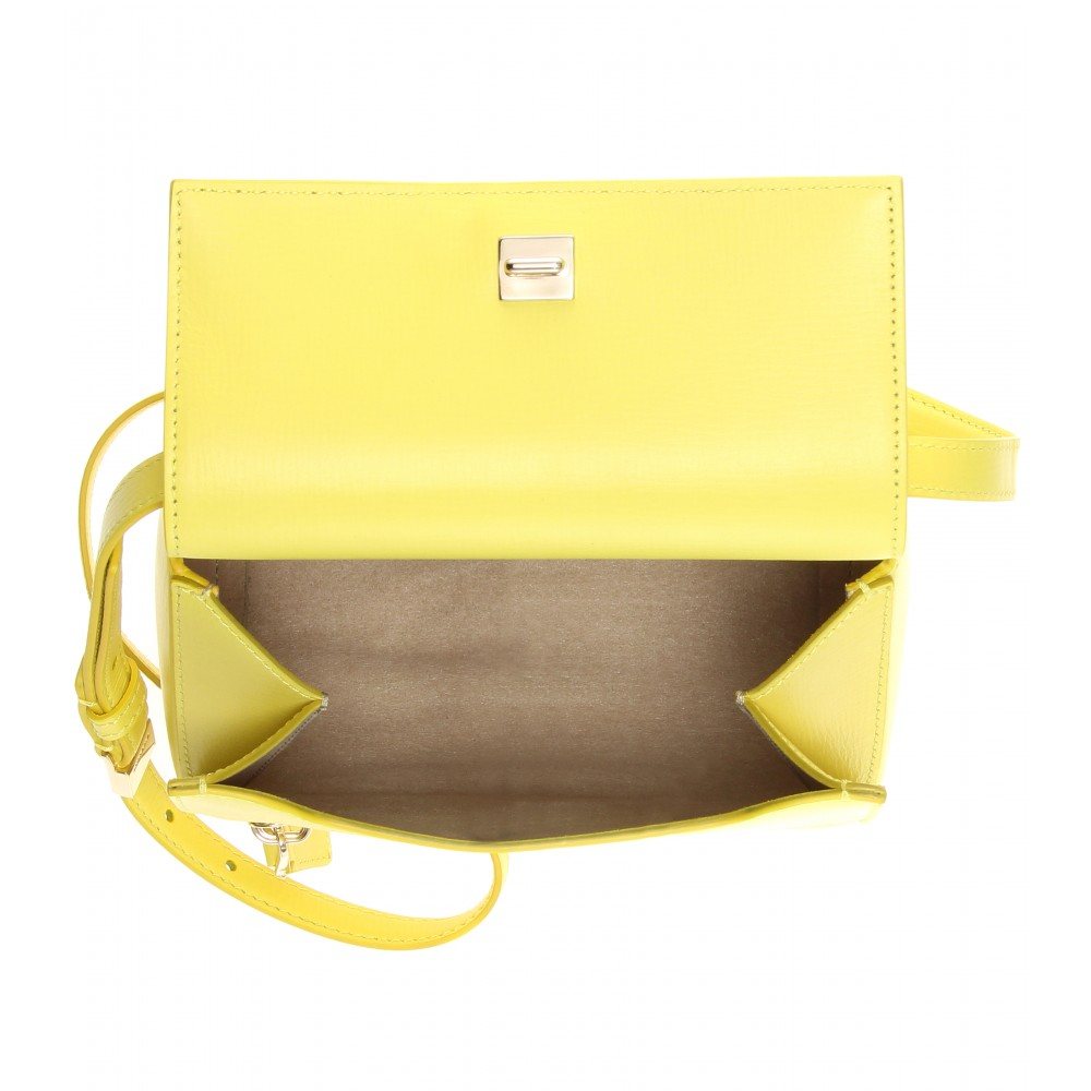 a49a9c1dc104 Lyst - Givenchy Pandora Box Mini Leather Shoulder Bag in Yellow