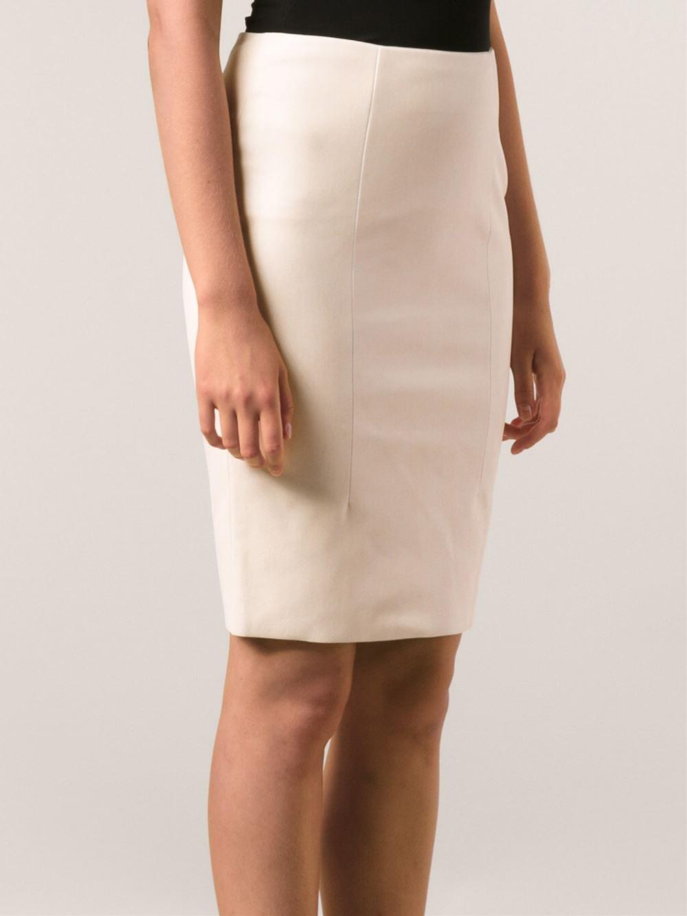 Petite Faux Leather Pencil Skirt Fashion Skirts