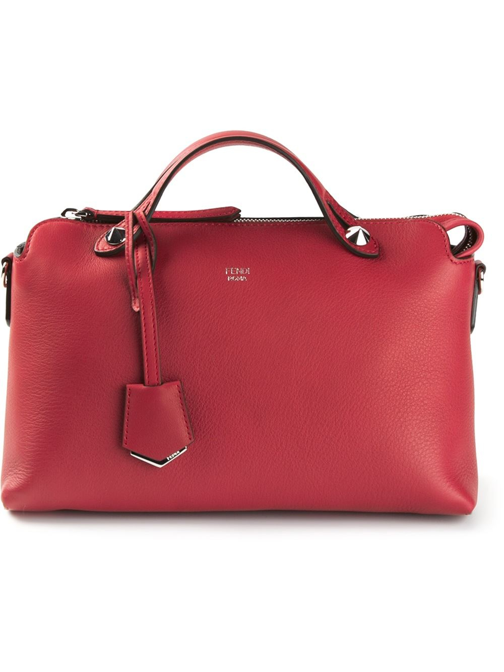a8ce75a37a5b wholesale lyst fendi by the way leather shoulder bag in red a9643 7515f