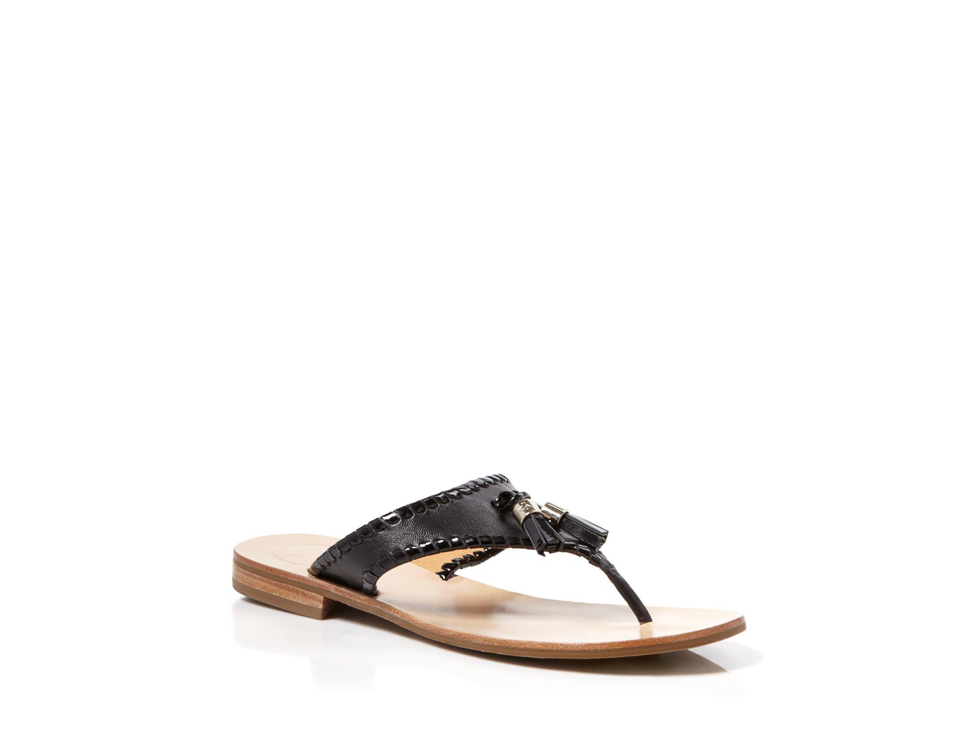 580c66ba1 Lyst - Jack Rogers Flat Thong Sandals - Alana Tassel in Black