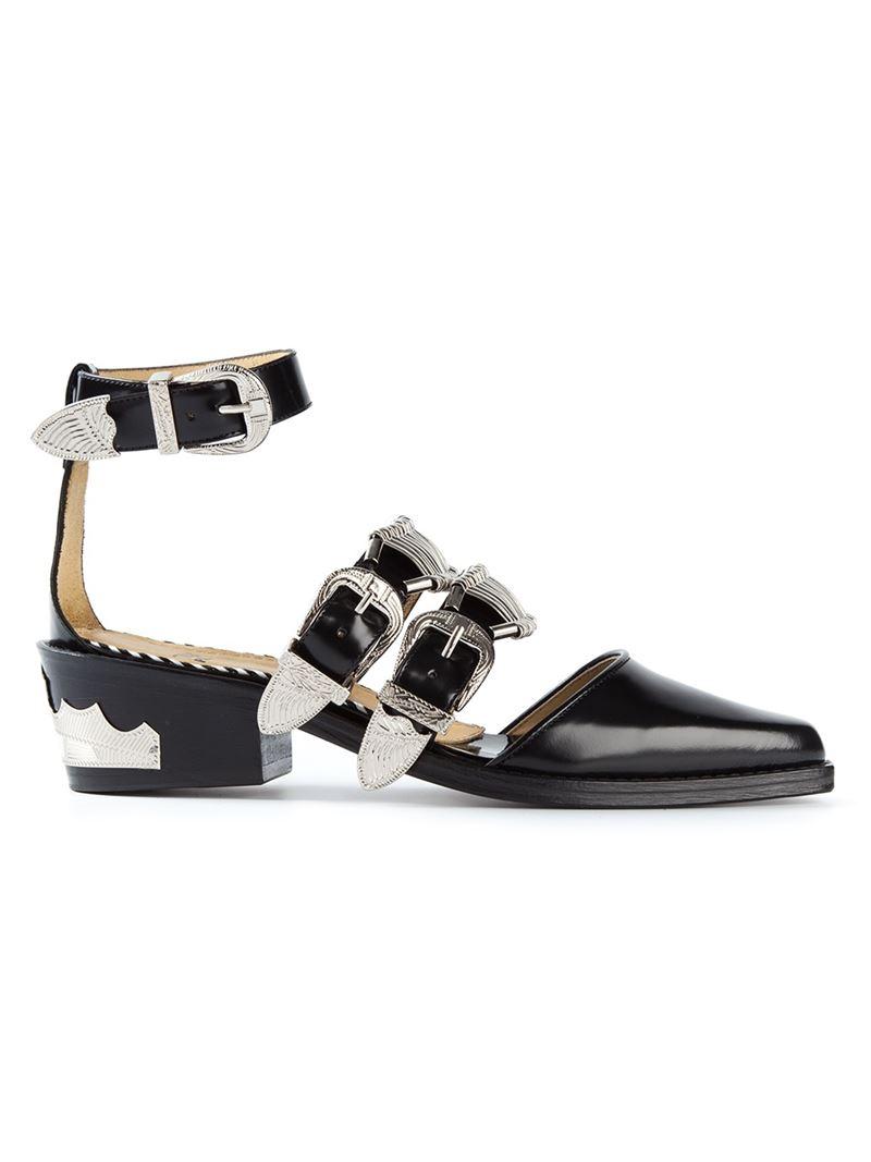 stacked western sandals - Black Toga Archives IRG29k0f
