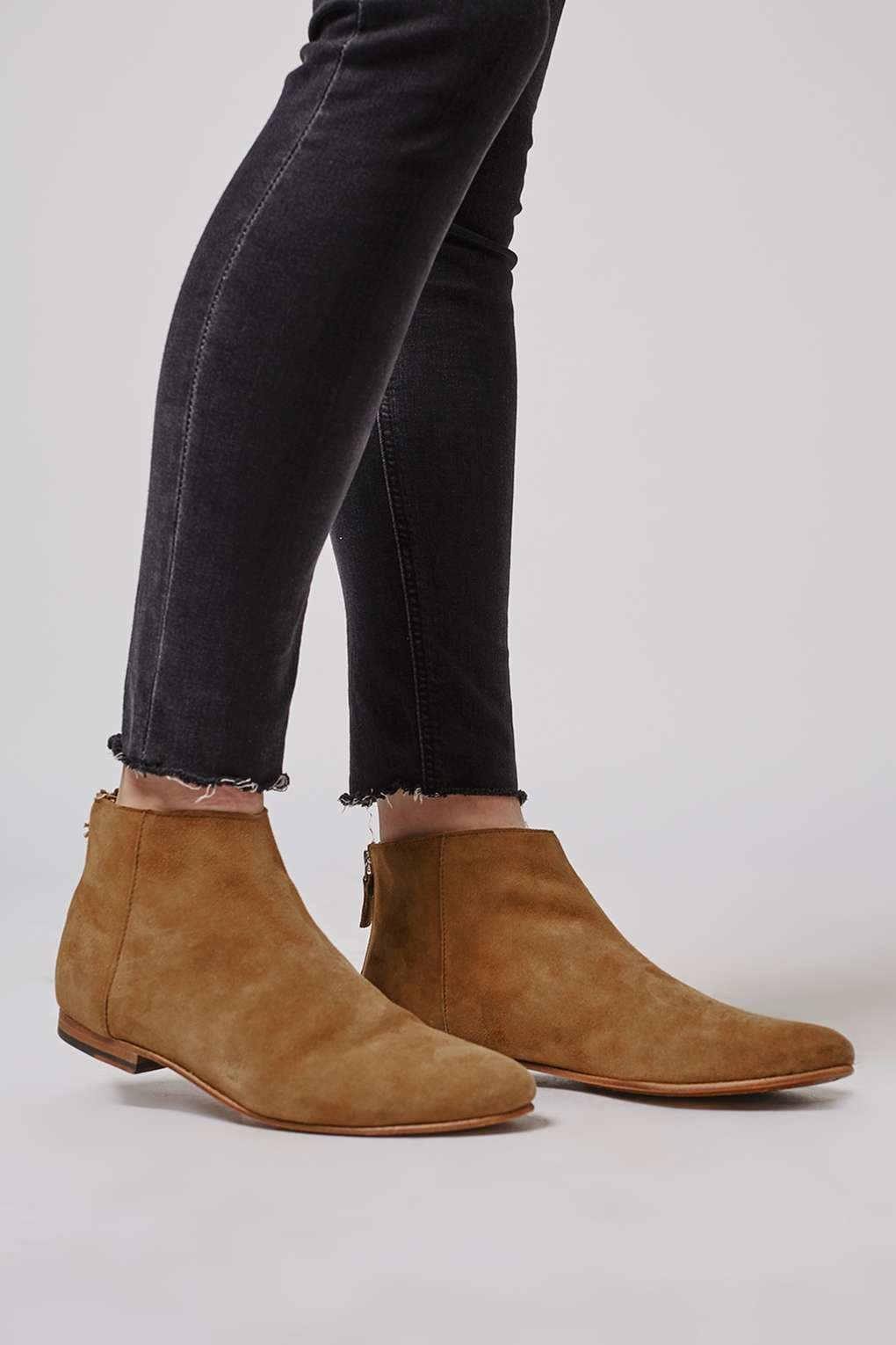 topshop apple bee ankle boots in brown lyst