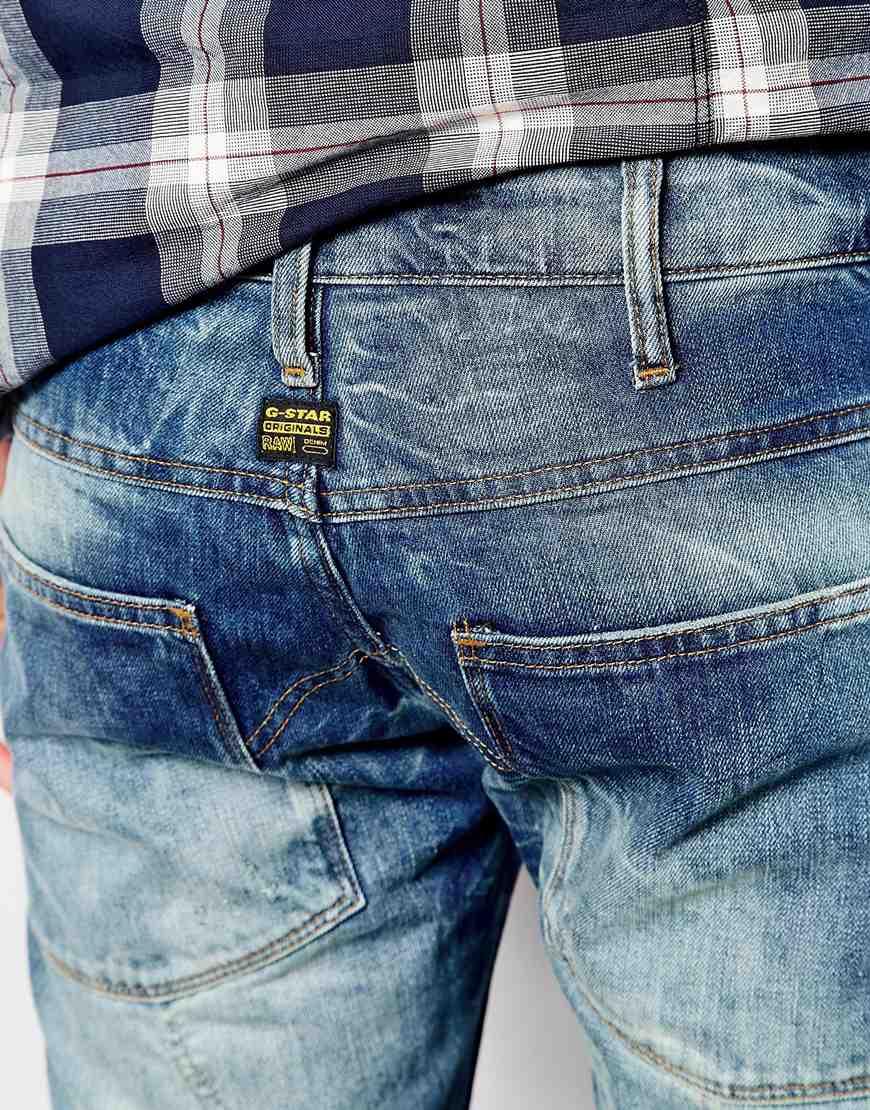 12ac35fda0c G-Star RAW G Star Jeans Elwood 5620 3d Low Tapered Medium Aged in Blue for  Men - Lyst