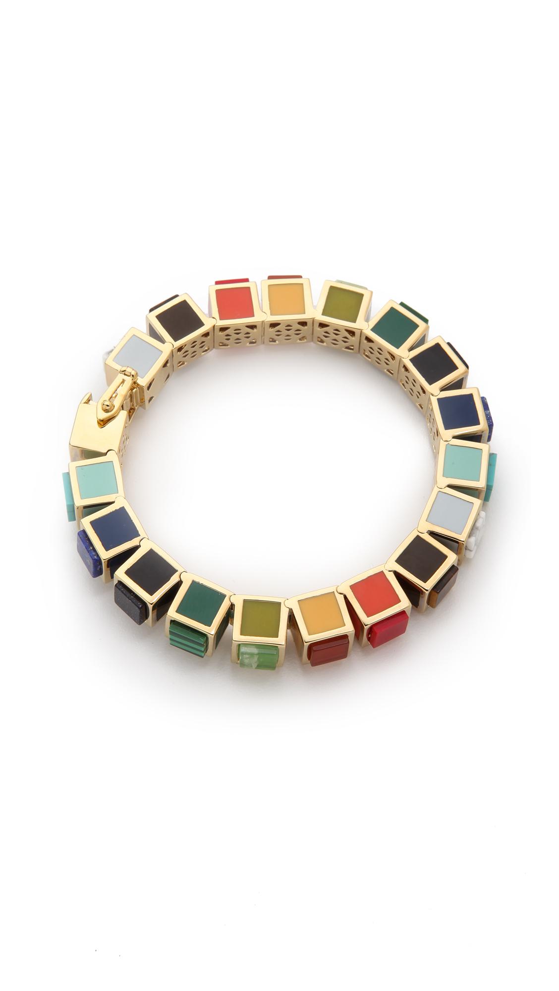 eddie borgo small cube bracelet lyst