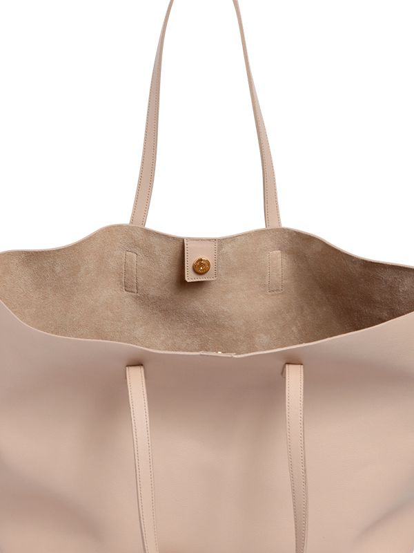 Saint laurent Soft Leather Tote Bag in Natural | Lyst