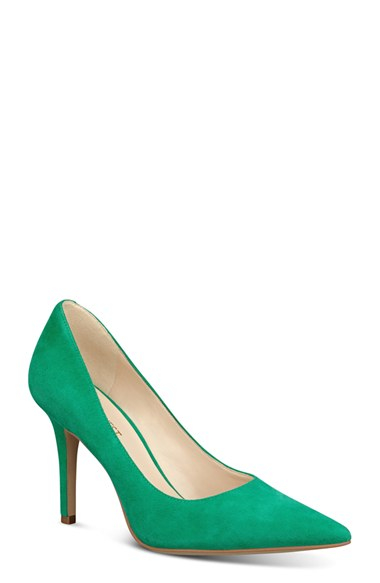 fa5000c6de7c2 Nine West 'jackpot' Pointy Toe Pump in Green - Lyst