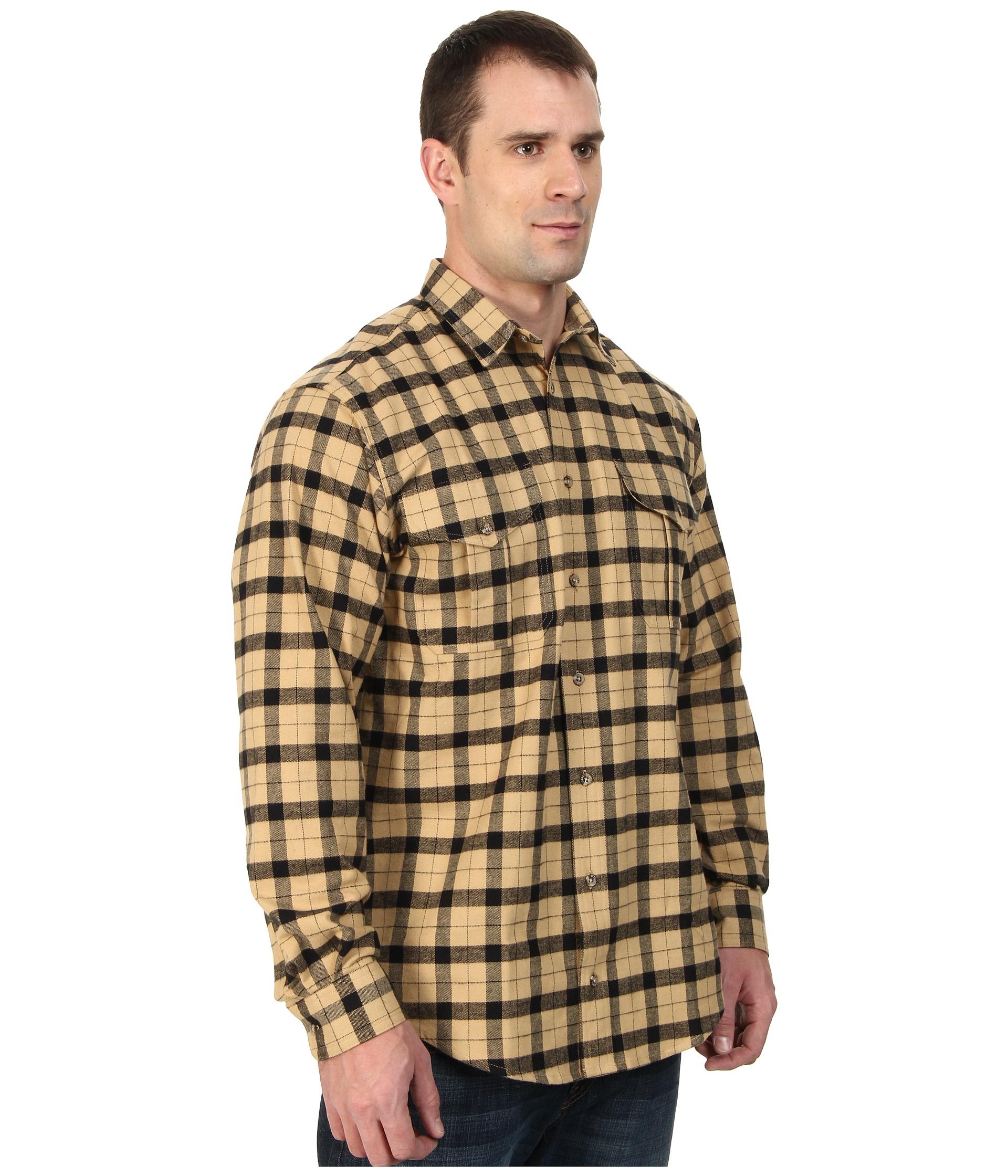 Filson extra long alaskan guide shirt in natural for men for Extra long mens dress shirts