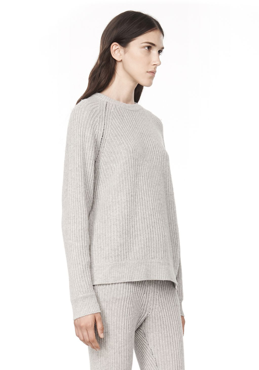 alexander wang cashmere blend crewneck pullover in gray lyst. Black Bedroom Furniture Sets. Home Design Ideas