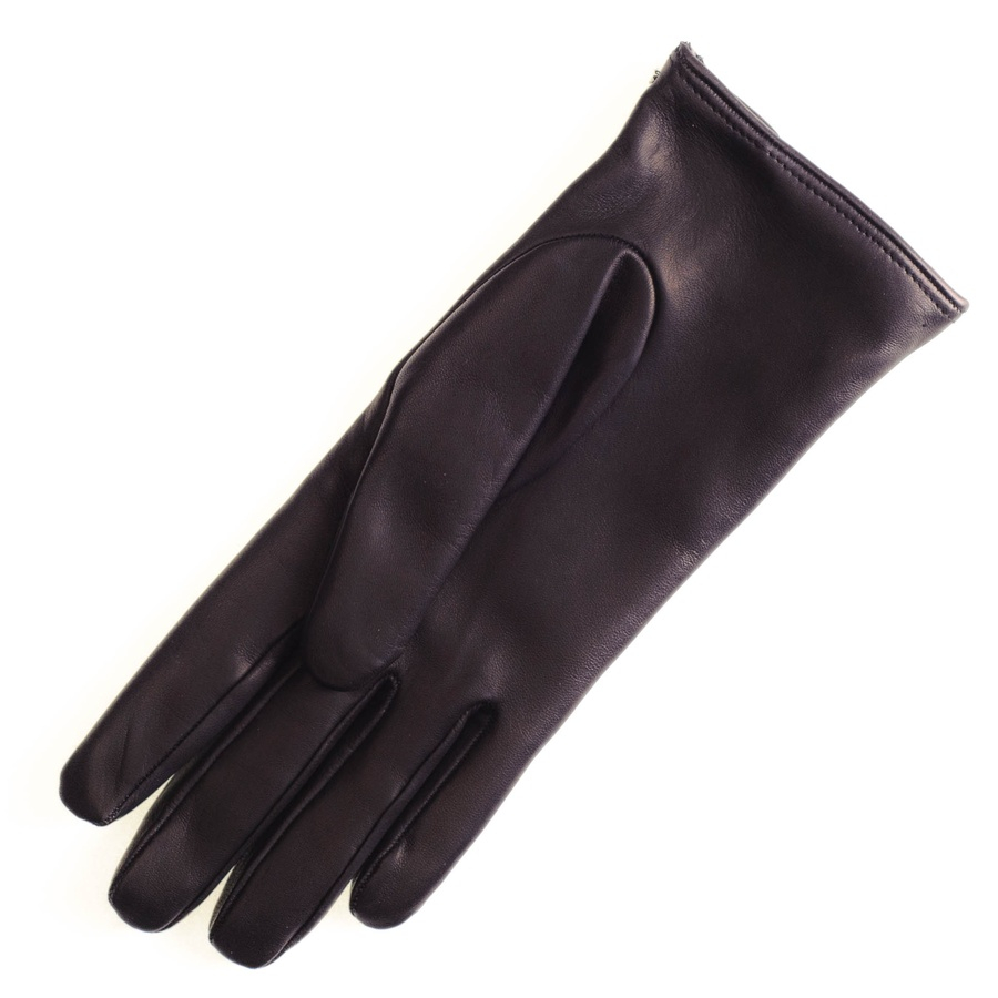 Black leather quilted gloves with cashmere lining - Gallery Men S Leather Gloves