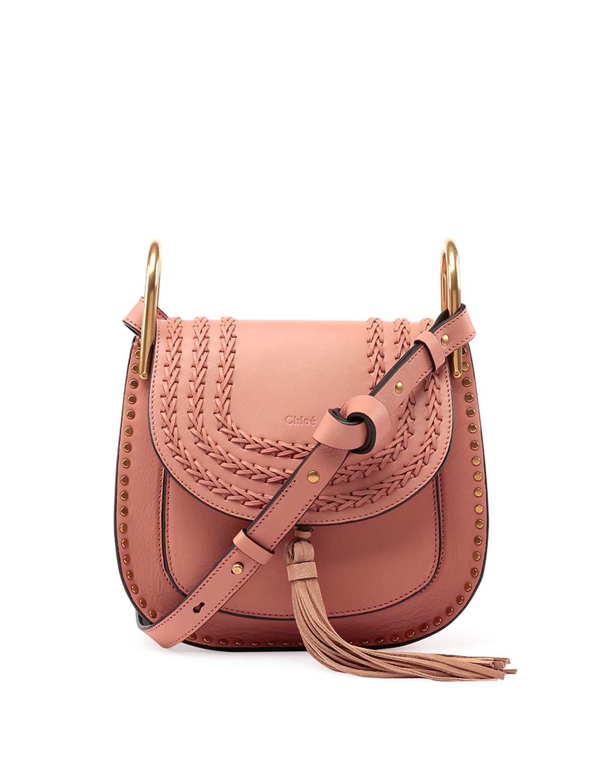 chloe it bags - Chlo�� Hudson Tassel Leather Shoulder Bag in Pink (ROSE) | Lyst