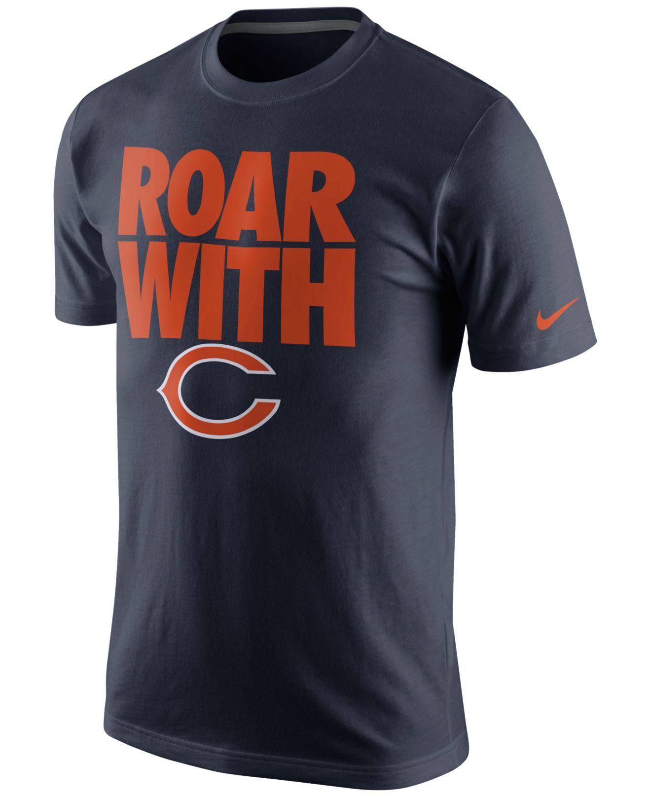 Nike Men 39 S Chicago Bears Team Spirit T Shirt In Blue For