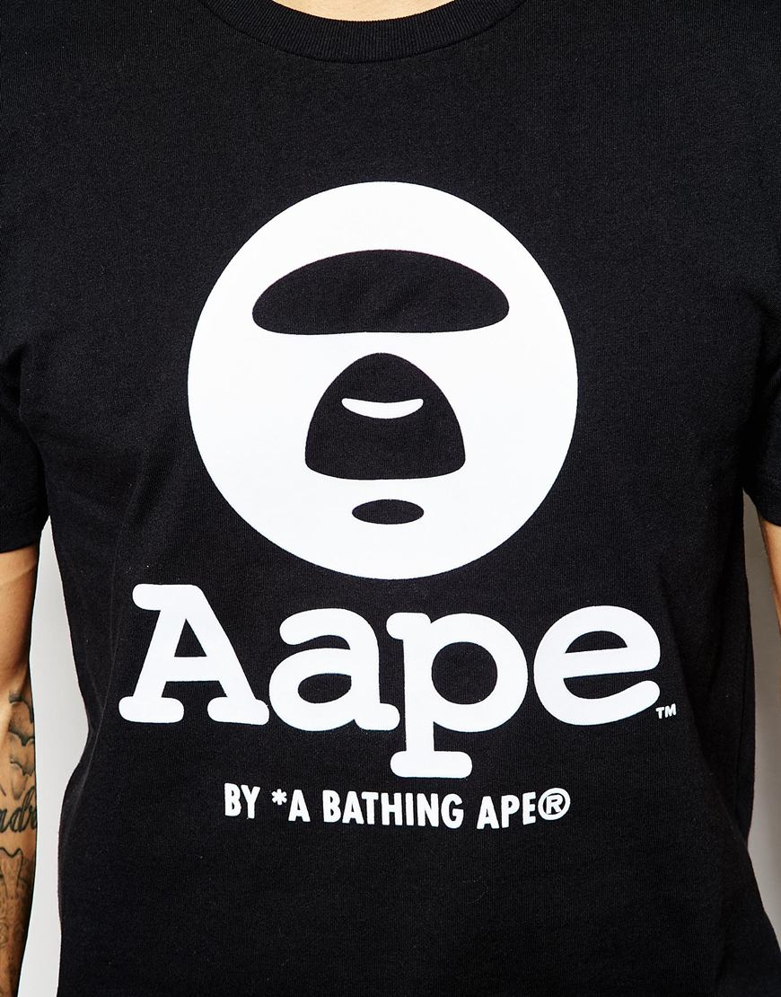 c3d54ed3c90 Lyst - Aape By A Bathing Ape T-shirt With Logo in Black for Men